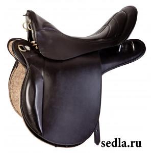 Седло Турист черное купить в интернет магазине конной амуниции